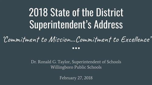 2018 State of the District Superintendent's Address