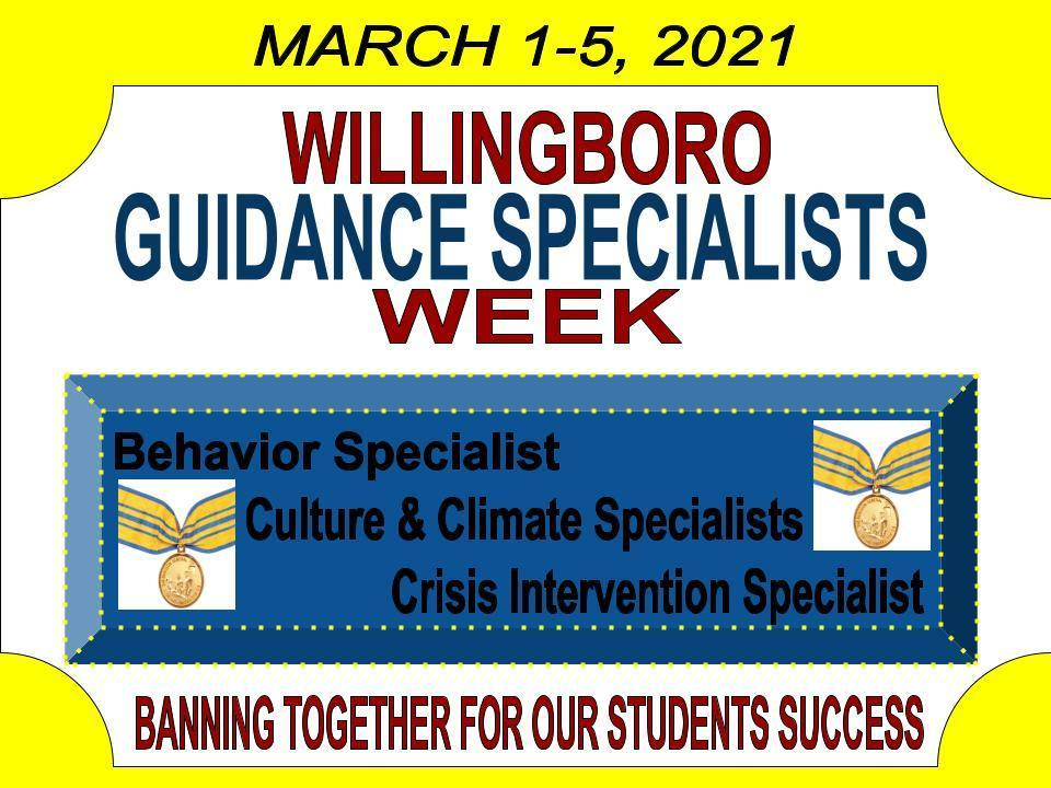 CELEBRATING GUIDANCE SPECIALISTS WEEK