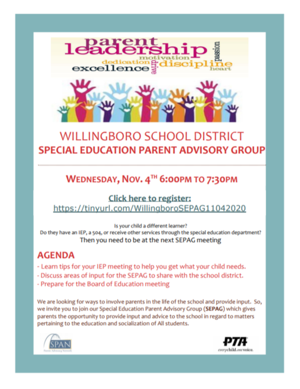 SPECIAL EDUCATION PARENT ADVISORY GROUP MEETING