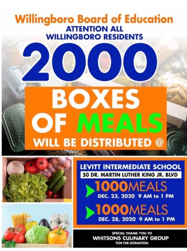 HOLIDAY MEALS FOR WILLINGBORO RESIDENTS